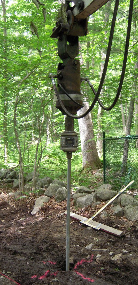 Helical pile installers of NH - image of helical pile drilling