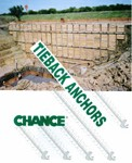 Tiebacks, soil nails and soil screws are used for excavation retention, bulkheads, seawalls, retaining walls and roadway abatements